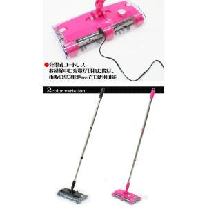 コードレスクリーナー 充電式 2WAY スティック 掃除機 360度高速回転ヘッド 4方向吸引 ハンディクリーナー 排気なし 軽量 紙パック不要 ◇ ウルトラスイーパーEX|i-shop777|05