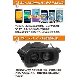 VRゴーグル 本体 iPhone アンドロイド 対応 スマホを簡単セット ゲーム 動画映像を立体視 3Dバーチャル VRの世界 360度リアリティ 装着感抜群 AV機器 ◇ VR-BOX|i-shop777|05