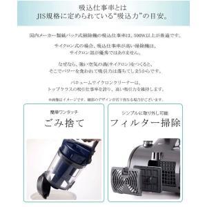 【ハイパワー吸引力を持続】機能性とデザイン性を兼ね備えた!高機能サイクロン掃除機 1000W 小型×超軽量3kg 美しいフォルム ◇ サイクロンクリーナー VCK114|i-shop777|02