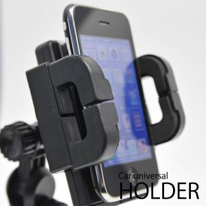 車用 スマホ ホルダー iPhone モバイル機器がカーナビに早変わり ワンタッチ強力固定 車載スマホスタンド 角度調整 ナビ機能 音楽再生 ◇ 吸盤式マルチホルダー|i-shop777|02