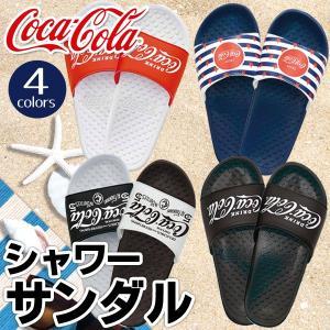 【激安セール】コカ・コーラ Coca-Cola さわやか メンズ サンダル 26cm〜27cm レディース 22cm〜23cm クラシカルロゴ 1950〜1960年代 ◇ Cola シャワーサンダル i-shop777