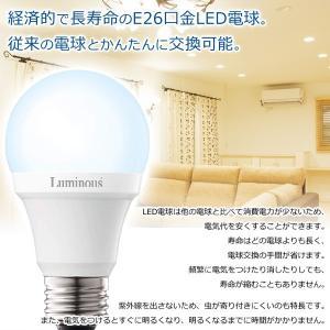 LED電球 E26 一般電球サイズ 40W相当 電球色 明るさ広がる広配光タイプ 電気代1/10 かんたん省エネ 節電グッズ Luminous 長寿命40000時間 激安 ◇ LED電球 CJ-40|i-shop777|02