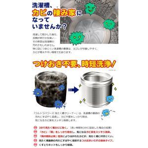 ◆カビ胞子除去率99.9%◆ カビに3分で効く!エステー 時短洗浄 ウルトラパワーズ 洗濯槽クリーナー 550g つけおき不要 除菌消臭 日本製 ◇ 洗たく槽クリーナー|i-shop777|02
