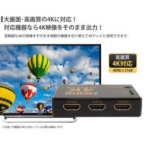 高画質4K対応 HDMIセレクタ 3ポート入力 1出力 HDMI映像機器を3台接続 ワンタッチ画面切替え器 2160P 電源不要 TV/PC/ゲーム機 ◇ 3入力1出力 HDMIセレクター|i-shop777|03