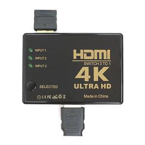 高画質4K対応 HDMIセレクタ 3ポート入力 1出力 HDMI映像機器を3台接続 ワンタッチ画面切替え器 2160P 電源不要 TV/PC/ゲーム機 ◇ 3入力1出力 HDMIセレクター|i-shop777|06
