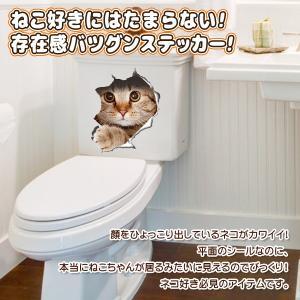 ウォールステッカー 5枚セット とびだす猫タイ...の詳細画像2