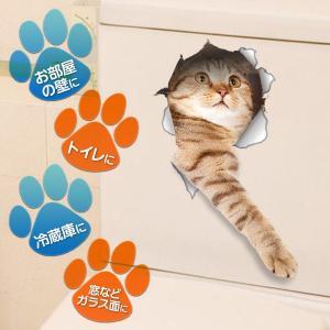 ウォールステッカー 5枚セット とびだす猫タイ...の詳細画像3