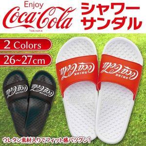 Coca-Cola サンダル 26cm〜27cm メンズ コカ・コーラ 1960年代ロゴ入 スポーツサンダル 履き心地◎ アウトドア コンビニ買い物 普段履き ◇ CC シャワーサンダル|i-shop777