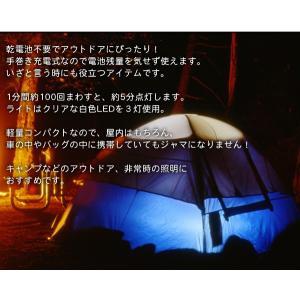 ハンディライト 日亜3LED 電池不要 ダイナ...の詳細画像3
