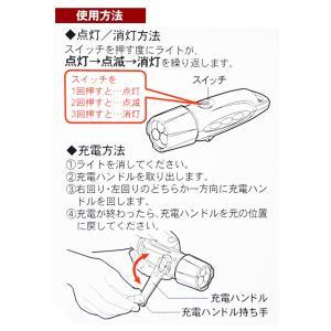 ハンディライト 日亜3LED 電池不要 ダイナ...の詳細画像4