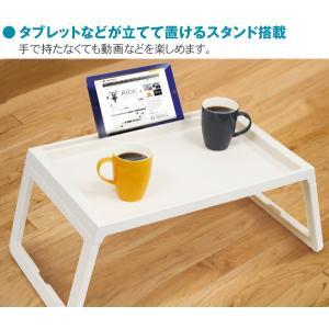 折りたたみ テーブル 68cm 簡単組み立て 3ステップ 便利なスタンド付 使う時だけテーブル 多目的 コンパクト収納 お絵かき机 アウトドア ◇ 3ステップ テーブルA|i-shop777|03