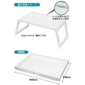 折りたたみ テーブル 68cm 簡単組み立て 3ステップ 便利なスタンド付 使う時だけテーブル 多目的 コンパクト収納 お絵かき机 アウトドア ◇ 3ステップ テーブルA|i-shop777|07