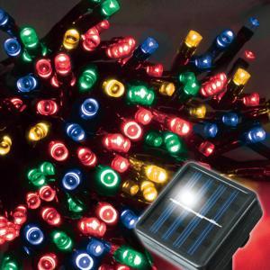 ソーラー充電式 防水 LED100灯 センサーライト 11m 暗くなると自動点灯 イルミネーションライト ガーデンライト 屋外照明 電気代0円 ◇ ソーラーイルミA 100球 i-shop777 05