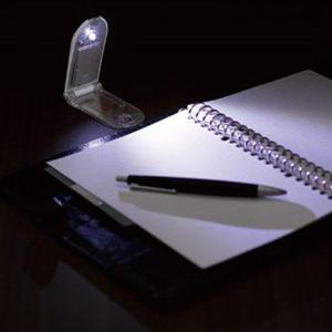 LEDブックライト 高輝度白色LED 210Lux 折りたたみ デスクライト 読書 バネ式クリップ採用 LED照明 本に挟んで使える 軽量 便利 出張 旅行 ◇ 携帯ブックライト|i-shop777