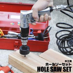 木工用 ホールソー 16点セット 収納ケース付 プロ仕様 全12サイズ 19mm−127mm対応 穴あけ 工具 ホルソー 16PCS 木工作業 DIY 簡単 ◇ 木工用ホールソーセット