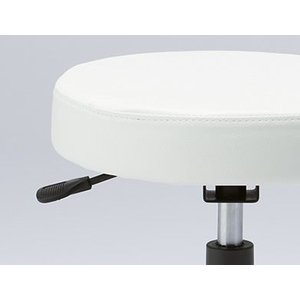 マルチスツール ホワイト 【GS010-VWH】 | 明るく清潔感のあるマルチスツール。 ウレタンキャスター付き丸イス OAスツール|i-studio|02