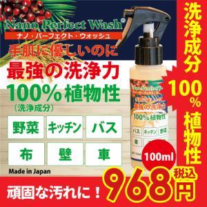 ナノパーフェクトウォッシュ 100ml 洗浄成分100%植物性 手肌に優しいのに最強の洗浄力 バス、キッチン、野菜、車、布、壁など|i-style01