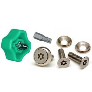 ナンバープレート 盗難防止用 セキュリティねじ (サビに強いステンレス製 )とドライバーセット i-tools