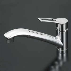 KVK 流し台用シングルレバー式シャワー付混合栓 (シャワー引出し式) 寒冷地仕様 KM5031ZT|i-top