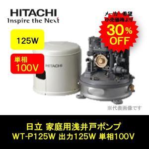 日立ポンプ 家庭用 浅井戸ポンプ 出力125W 単相100V WT-P125W|i-zok