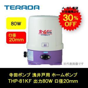 寺田ポンプ 浅井戸用 ホームポンプ 口径20mm 出力80W THP-81KF|i-zok