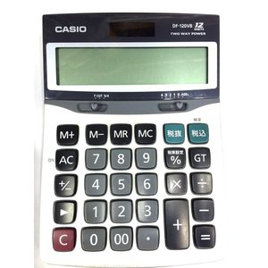 電卓 12桁 カシオ DF-120VB-N|i328