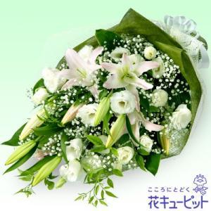お盆 花キューピットのお供えの花束|i879
