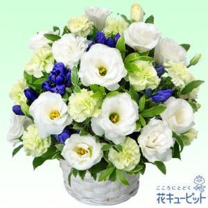 お盆 花キューピットのお供えのアレンジメント