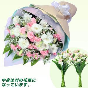 お盆 花キューピットの墓前用花束(一対)|i879