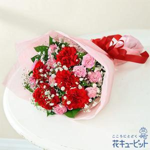 母の日ギフト・カーネーションの花束 花キューピット プレゼント カーネーション ママ お母さん