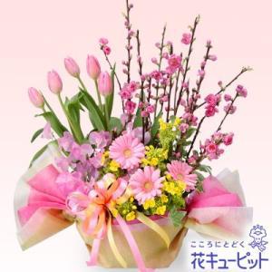 ひな祭り 花キューピットのひなまつりのひし餅アレンジメント ひなまつり お祝い 記念日 卒業 卒園 プレゼント i879