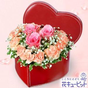 誕生日フラワーギフト 花キューピットのピンクバラのアレンジメント 花 ギフト 誕生日 プレゼント|i879