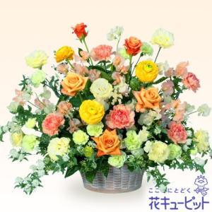 開店祝い・開業祝い 花キューピットのバラとスイートピーのアレンジメント(イエロー) 花 ギフト お祝い プレゼント|i879