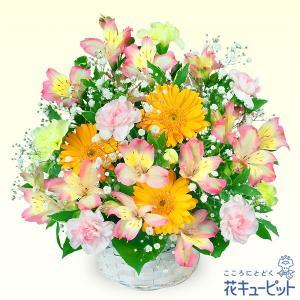 退職祝い 花キューピットのアルストロメリアのアレンジメント 花 ギフト お祝い プレゼント i879