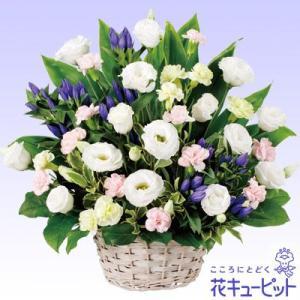 やわらかい花色のトルコキキョウと、凛とした色合いのリンドウが故人への想いを優しく包み込みます。118...