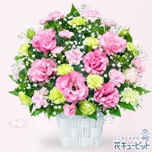 お祝い返し 花キューピットのトルコキキョウのピンクアレンジメント 花 ギフト お祝い プレゼント|i879