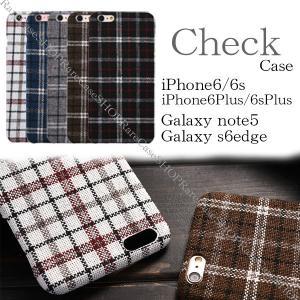 スマホケース iphone6 plus スマホカバー アイフォン ケース i Phone アイホン ギャラクシーs6edge Galaxys note5 チェック柄 おしゃれ タータンチェック|iah-rare-case-shop