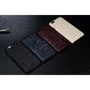 スマホケース iphone6 plus スマホカバー アイフォン ケース i Phone アイホン 牛革 ワニ柄 背部 本革 iPhone5 5s se クロコ 型押し 最高級|iah-rare-case-shop