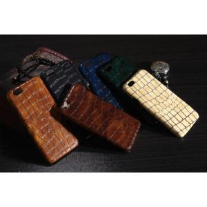 スマホケース iphone6 plus スマホカバー アイフォン ケース i Phone アイホン 牛革 センザンコウ柄 本革 レア おしゃれ かっこいい 最高級|iah-rare-case-shop