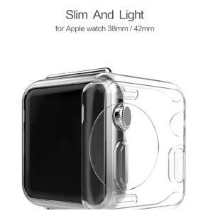 Apple Watch クリアケース 耐衝撃 38mm用 42mm用 クリアフィルム  シンプルなアップルウォッチ 用 クリアカバー プロテクト タフケース|iah-rare-case-shop