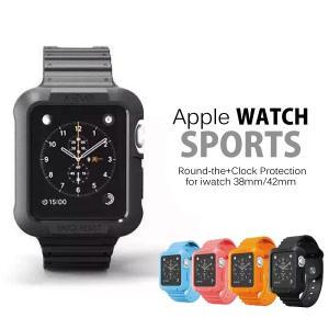 AppleWatch 一体型 バンド 38mm/42mm アップルウォッチ スポーツ ファッションバンド 全面保護 完全保護 TPU sports design|iah-rare-case-shop