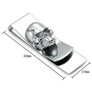 マネークリップ 財布 スカル ドクロ トナカイ ブランド 札ばさみ メンズ財布 ステンレス modern iah-rare-case-shop
