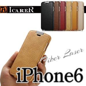スマホケース 手帳型 iphone6 スマホカバー アイフォン ケース i Phone アイホン 縦開き ファイバーレザー シンプル かっこいい おしゃれ 人気  ICARER|iah-rare-case-shop