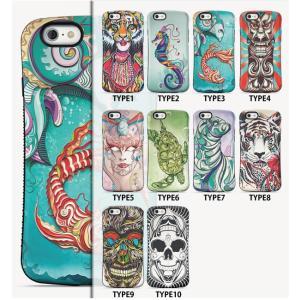 スマホケース iphone6 plus スマホカバー アイフォン ケース i Phone アイホン ウォールペイント風  グラフィック ドクロ アニマル 耐衝撃 放熱 滑り止め|iah-rare-case-shop