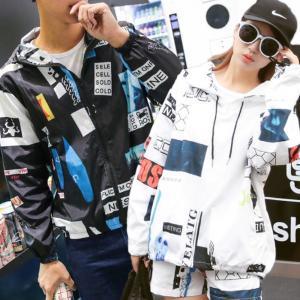 MA-1 ユニセックスパーカー G-Dragon Supreme系 フライトジャケット ホワイト&ブラック 大きいサイズのXL|iandi