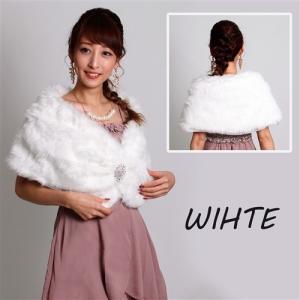8f149a2ab91ca ... 結婚式 パーティ ドレスに羽織る フェイク ファーケープ マント ボレロ 黒 ブラック 送料無料 きらきら