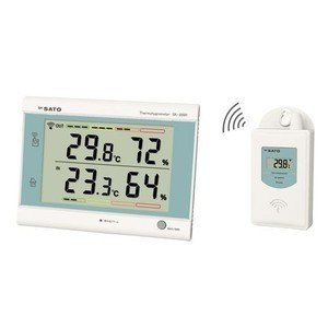 佐藤計量器 最高最低無線温湿度計 SK-300R|iashiya