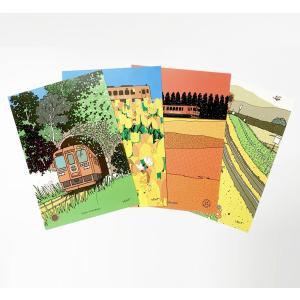 夢やすらぎポストカード[Bセット]|ibara-railwayshop