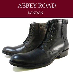 ABBEY ROAD アビーロード ジッパー&レースデザイン本革レザーデザインショートブーツ AB5300|ibc