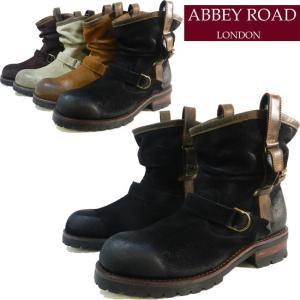 ABBEY ROAD アビーロード ビンテージ加工デザイン本革レザーショートペコスブーツ AB6003|ibc